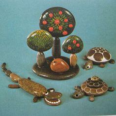 rock garden and animals