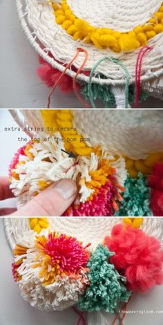 How to Add Pom Poms to a Weave | The Weaving Loom