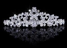 Bridal Wedding Tiara Crown with Round Crystals >>> You can find more details by visiting the image link.