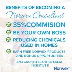 Benefits of becoming a Norwex consultant - view the full FAQ here: http://www.fastgreenclean.com/2017/02/start-your-norwex-business-join-my-team.html
