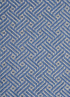 Wyndham Weave Fabric A robust upholstery fabric with a geometric design woven in sky blue and grey.