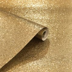A divine sequin sparkle metallic glitter wallpaper in gold from the Arthouse Sequin Sparkle Wallpaper Collection. Available at Go Wallpaper UK. Sparkle Wallpaper, Wallpaper Uk, Wallpaper Paste, Adhesive Wallpaper, Textured Wallpaper, Sequin Wallpaper, Sparkles Glitter, Gold Sequins, Home