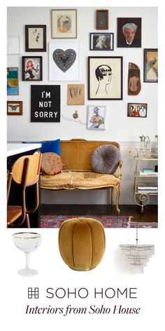 Soho Home Interiors by Soho House. Shop furniture, textiles and glassware