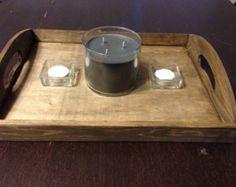Rustic Wood Coffee Table Tray