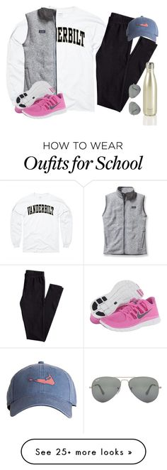 """No school Friday for teacher in service!!!"" by robramey17 on Polyvore featuring H&M, Patagonia, Harding-Lane, NIKE and Ray-Ban"