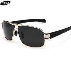 e9393bb090 VEGA Mens Polarized Military Sunglasses For Police Driving Square UV Sunglasses  Black Glasses For Men Anti Glare Visor 3258-in Sunglasses from Men s ...