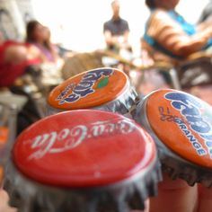 Creative soda bottle cap photo. Spain. ©2012 Sarah Wohlner.