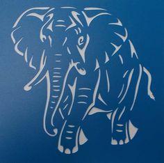 Little Elephant Stencil by kraftkutz on Etsy