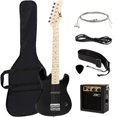 "#guitar Electric Guitar Kids 30"" Black Guitar With Amp + Case + Strap and More New please retweet"
