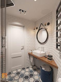 Фото: Душевая комната - Интерьер квартиры в скандинавском стиле с элементами лофта, ЖК «Skandi Klabb»