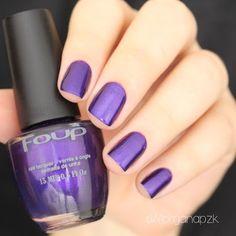 Unhas roxas. Esmalte Ametistha da Foup. Purple Nails. Nail art. Nail Polish. by @morganapzk