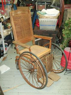 This looks just like the antique wheelchair I had in my very first apartment.