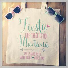 bachelorette party tote bags nachoaveragebach fiesta by threetwo1