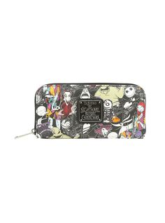 Loungefly The Nightmare Before Christmas Characters Zip Wallet,