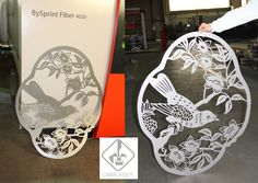 once again here showing some metal parts that we have just cut by using our laser cutting equipments