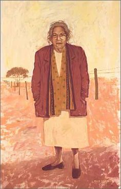 Portrait by Susan Wyatt by Doris Pilkington (Nugi Garimarra), finalist in the 2003 Archibald Prize 2003 for the Art Gallery of NSW