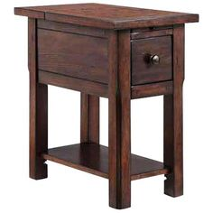 Sutersville Rustic Oak Side Table with Outlets and USB Ports - #1D732 | www.lampsplus.com