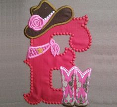 Cowgirl personalized Custom Letter only one any letter by artapli