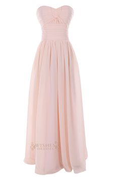 A-line formal Sweetheart chiffon gown with criss-cross at the front centre and cross pleated at the empire waist while the back with zipper . Neckline:Sweetheart Length:Floor length Details:Ruching Fa