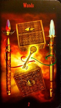 Legacy of the Divine Tarot / Gateway to the Divine Tarot by Ciro Marchetti - 2 of Wands