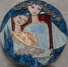 Saper Galleries is the source for ceramic bas-reliefs by Israeli artist Ruth Faktor Tile Art, Tiles, Modern Portraits, Custom Framing, Abstract, Clay Art, Gallery, Drawings, Artist
