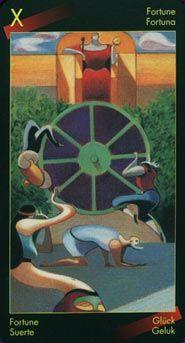 La Roue de Fortune (10) Fortune Wheel ~~~ Dante Tarot