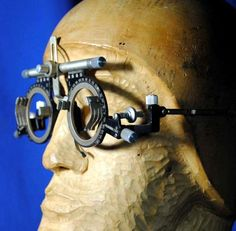 d0b8f52891a Rare vintage German oculus trial frame glasses used by optometrist to make  custom eyeglass frames.