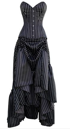 Pinstriped Goth / Steampunk strapless dress @Kiley Ferguson Ferguson Ferguson Ferguson Ferguson Ferguson Ferguson Shepherd I like this one, next project maybe? :)