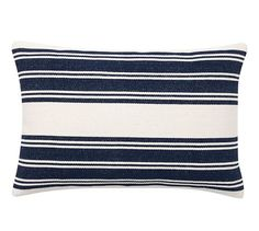 Awning Stripe Dhurrie Lumbar Pillow Cover, 20x30