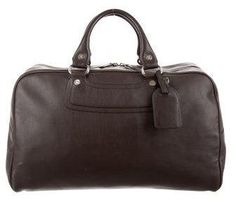 Céline Leather Weekender Bag Men's walnut brown leather Céline weekender bag with silver-tone hardware, dual rolled top handles, black jacquard woven lining, three pockets at interior wall; one with zip closure and two-way zip closures at top. Michael Kors Era. Includes dust bag. {affiliate link} Mens Weekend Bag, Jacquard Weave, Weekender, Celine, Designer Handbags, Dust Bag, Online Shopping, Brown Leather, Hardware