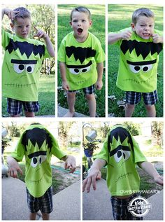How to make a Frankenstein shirt for Halloween or pretend play!