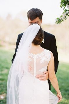 Real bride Virginia was married in the Victoire gown by Anne Barge. Her Nashville wedding featured on Brides.com