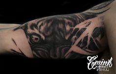 hungry tiger  @phibrows_artist_jennychiki  #tiger #tigertattoo #tigereye #tigers #tattoos #hungrytiger #blackandgrey #blackandgraytattoo #tattoostyle #tattooworkers #emink #eminktattoo #eminktattoostudio #vicenzatattoostudio #padovatattoo