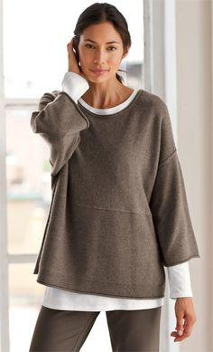Women's apparel, accessories, and footwear from J.Jill nice lounging wear if the weather is chilly. big cotton chunky sweaters are always good. Hipster Outfits, Casual Outfits, Cute Outfits, Hipster Ideas, Casual Wear, Modest Fashion, Fashion Outfits, Womens Fashion, Petite Fashion