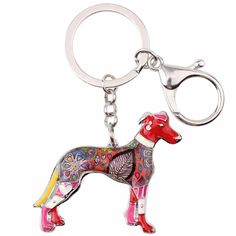 Multicolor Greyhound Dog Key Ring (6 color options). 🐶 Online shopping for Little Dogs Supplies with free worldwide shipping.🐶 Be sure you follow for daily pics & offers! 🐶 #dogs #dogsofinstagram #dog #puppy #puppies #cutedogs #doglovers #pets #dogclothes #funnydogs Funny Dogs, Cute Dogs, Grey Hound Dog, Mamas And Papas, Cat Supplies, Gadget Gifts, Little Dogs, Key Rings, Dog Lovers