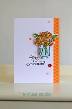 A Muse Studio Crazy Friends - Orange flowers in my thoughts