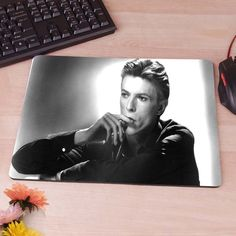 David Bowie Gaming Rectangle Apple Computer Mouse Pad Mousepads Decorate Your Desk Non-Skid Rubber Pad