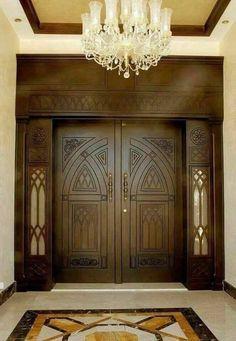 Main Entrance Door Design, Wooden Front Door Design, Double Door Design, Door Gate Design, Wood Front Doors, Patio Doors, Wooden Bifold Doors, Wooden Double Doors, Modern Wooden Doors