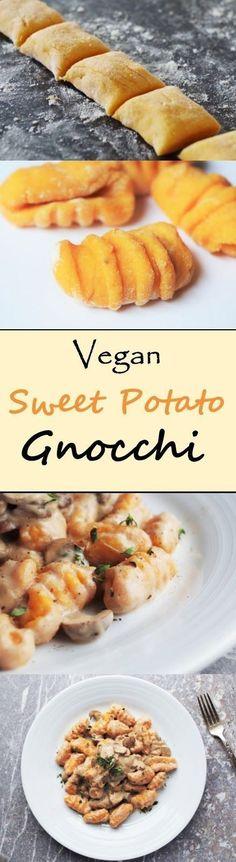 Süßkartoffeln sind reich an wertvollen Nährstoffen und hochwirksamen Antioxidantien. Entdecken Sie hier eine raffinierte #Rezeptidee mit der südamerikanischen Wunderknolle für vegane #Süßkartoffel #Gnocchi: #vegan #vegetarisch #rezept