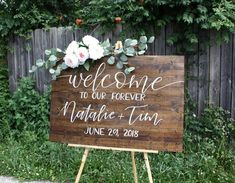 Wedding welcome sign Welcome to our forever sign, wedding welcome sign, custom . - wedding welcome - hochzeitwillkommen - wedding details Lilac Wedding, Wedding Bouquets, Wedding Flowers, Dream Wedding, Perfect Wedding, Burgundy Wedding, Spring Wedding, Wedding Dresses, Welcome To Our Wedding