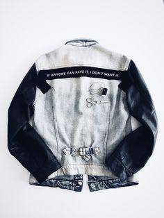 Custom made my denim jacket . I personalized myself with my printed herringbone