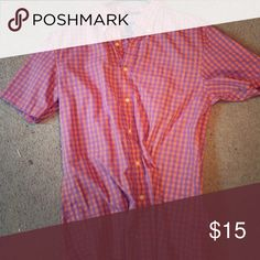 Saddlebred short sleeve button up. Never worn. Decided wasn't my style. Purchased at the Belk Tops Button Down Shirts