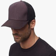 James Perse 2016: Maroon Double Face Nylon Trucker Hat