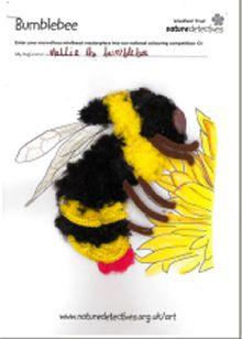 Mellie by Freya Hadley: Winner of 5-8y category of Woodland Trust minibeast art competition
