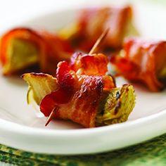 Bacon wrapped artichoke hearts <3