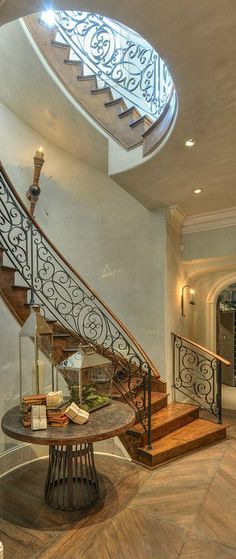 Love the rounded stairs. Would like more if floating