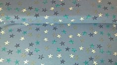 Jersey Jerseystoff Sterne jeansblau dunkelblau  von Meterware Stoffe günstig kaufen auf DaWanda.com