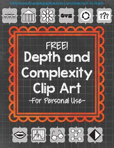 11 FREE Depth and Complexity pieces of clip art! Perfect for your custom worksheets and materials.