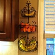 Nice room temperature produce or small snack idea. Also saves counter space and no banana tree toppling over. 30 Organization Tips, Tricks and Ideas That Will Make You Go Ah-ha!