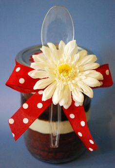 Tons of Cake in A Jar ideas including this Red Velvet Cake in a Jar.
